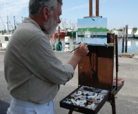 Plein Air Plus Competition and Exhibition (start of painting)